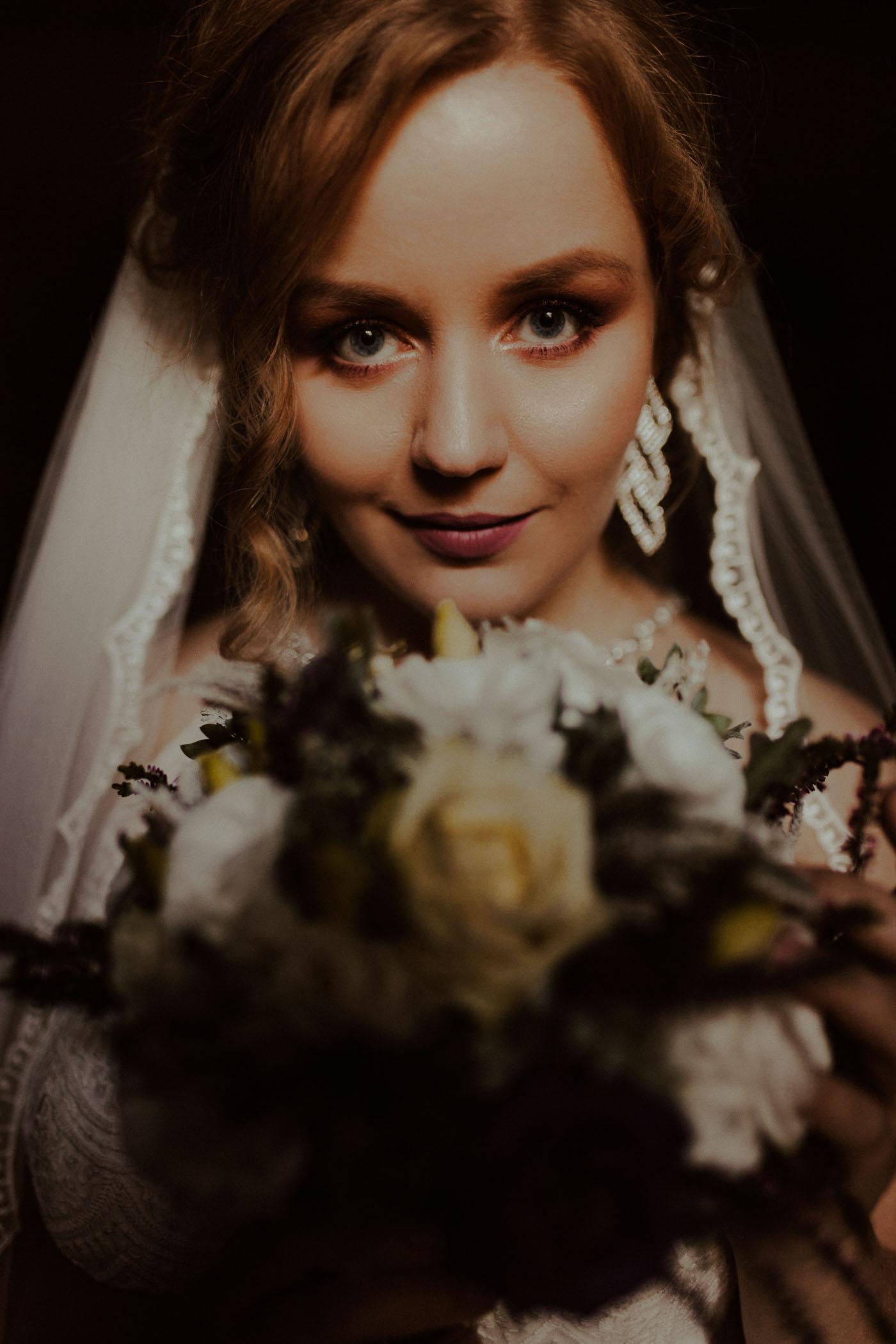 portret panny młodej - wykonanie Emilia Chrobok fotograf ślubny Małopolska